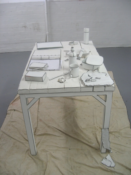 The Sketched Worksite, 2008, Georgina Humphries